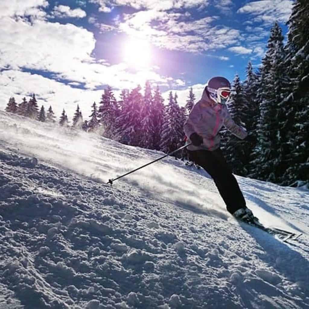 In der Nähe von Eppan gibt es viele Skigebiete